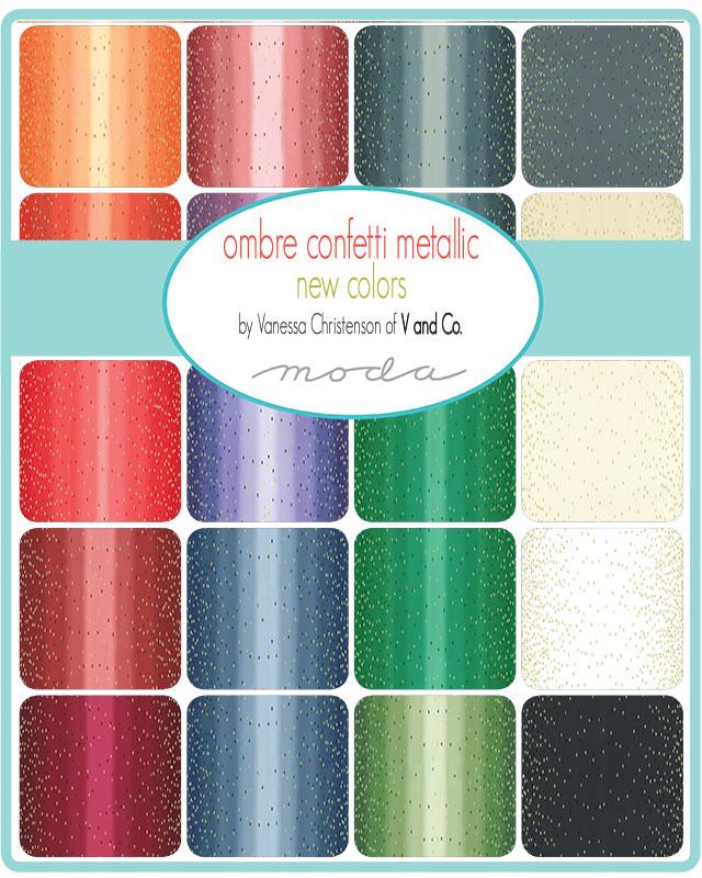 32pc Fat Quarter Bundle 10870AB Moda Precut Fabric Quilting Cotton V and Co Pre-Order Ombre Bloom