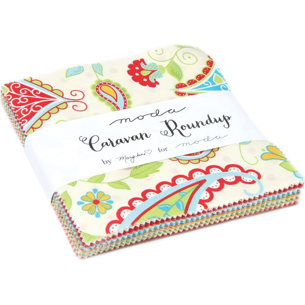 Caravan Roundup Collection Moda Quilting Cotton Quilting Fat Quarter by Mary Jane Butters for Moda