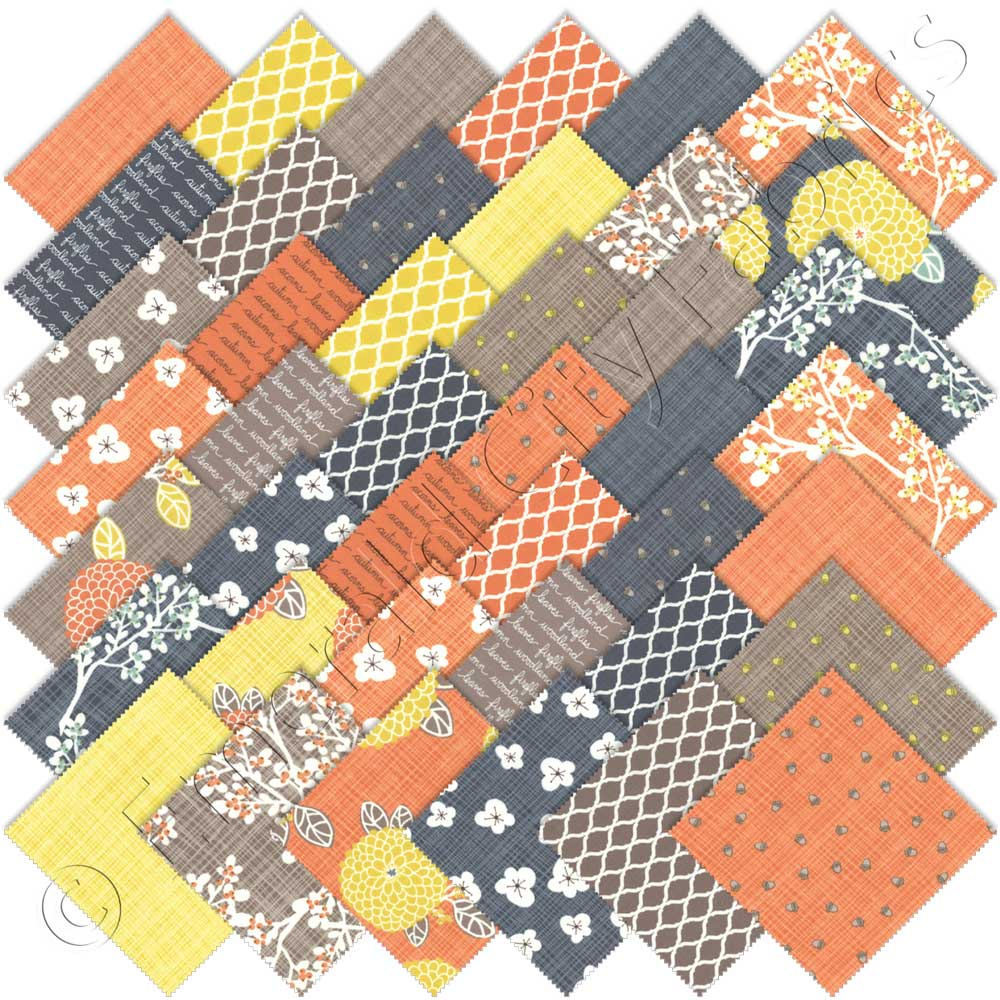 Moda autumn woods charm pack emerald city fabrics for Quilting material