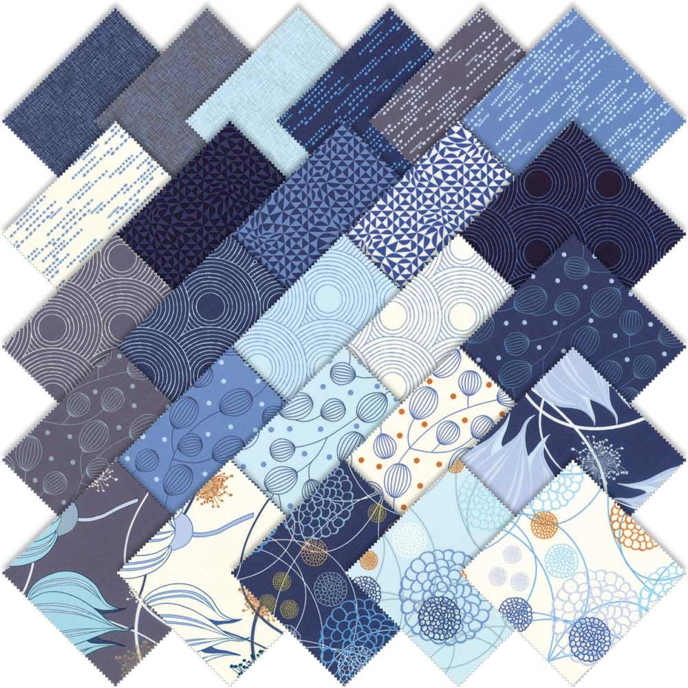 Moda True Blue Fat Quarter Bundle By Zen Chic 1620ab