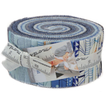 Moda True Blue Jelly Roll by Zen Chic
