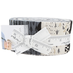 Moda White Christmas Metallic Jelly Roll by Zen Chic