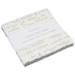 Moda White Christmas Metallic Charm Pack by Zen Chic