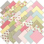 Moda Ambleside Charm Pack, 42 5-inch Cotton Fabric Squares