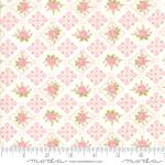 Moda Bramble Cottage Lacy Scallop Rose Linen Fabric by Brenda Riddle Designs