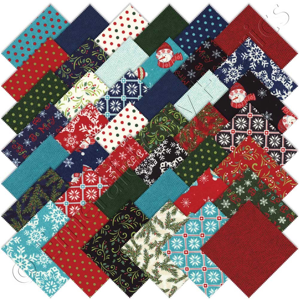 Moda be jolly charm pack emerald city fabrics for Quilting material