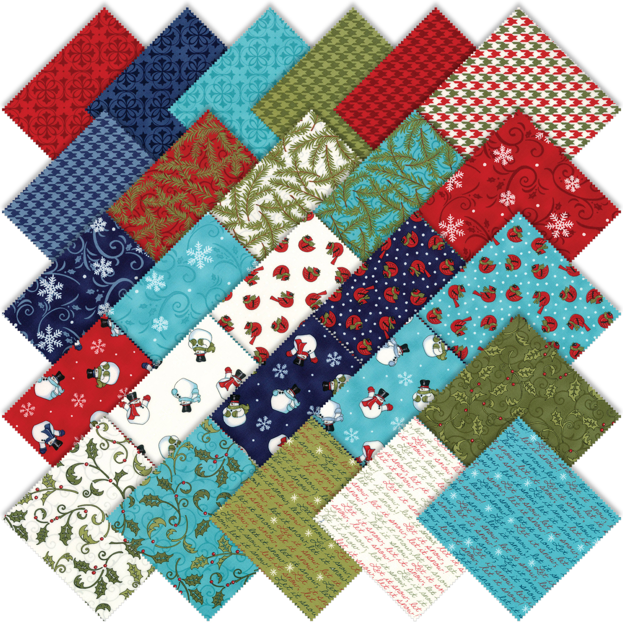 Moda Snow Much Fun Fat Quarter Bundle by Deb Strain ...