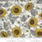 Moda Bee Grateful Pebble Grey Fabric by Deb Strain