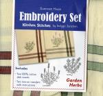 Dunroven House Herbs Tea Towel Embroidery Set by Amy Barickman