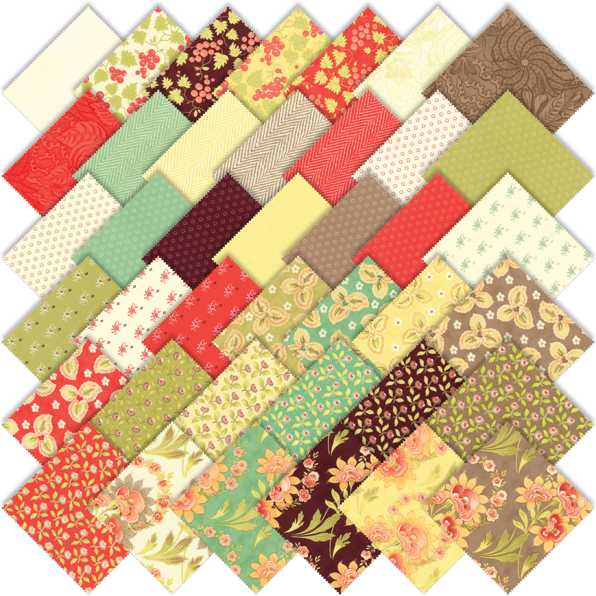 Hazel and Plum Fabric Moda Fabric Moda Bundle 9 pieces Fig Tree Quilts Hazel /& Plum RedGreen One Yard Bundle