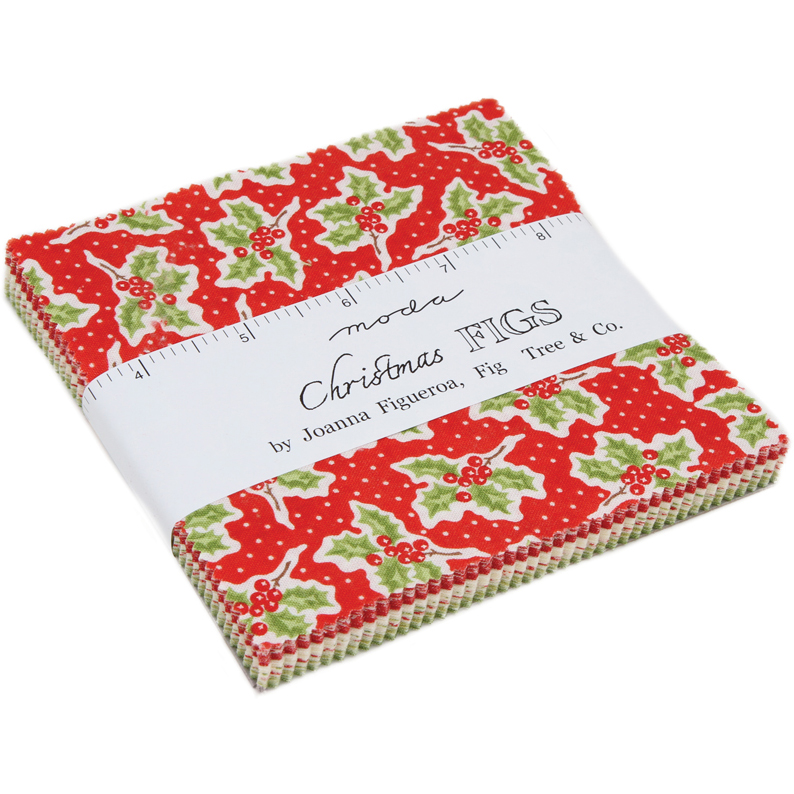 Moda Christmas Fabric 2019.Moda Christmas Figs Charm Pack By Fig Tree Co 20310pp
