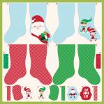 Moda Cut Sew Create Christmas Stocking Fabric Panel by Stacy Iest Hsu