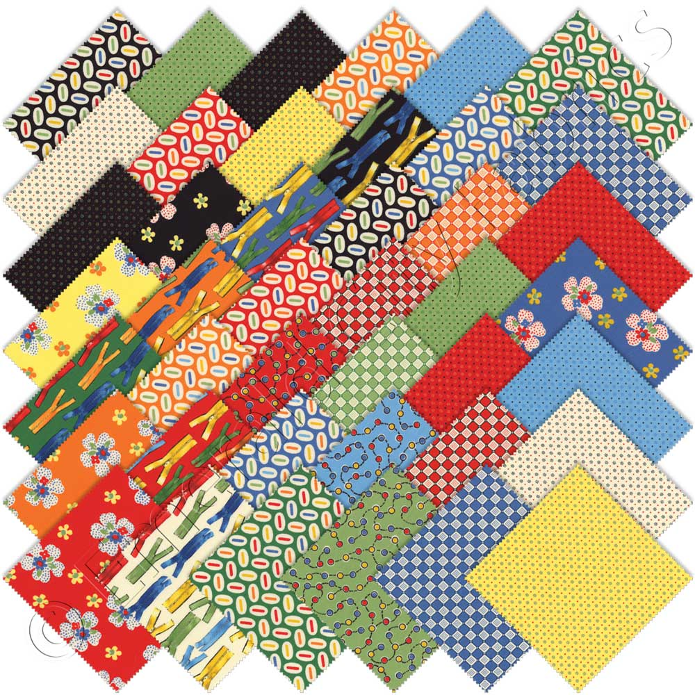 Moda ducks in a row charm pack emerald city fabrics for Quilting material