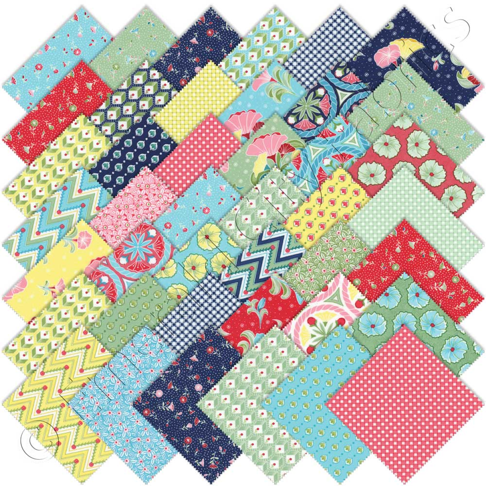 Moda pedal pushers charm pack emerald city fabrics for Quilting material