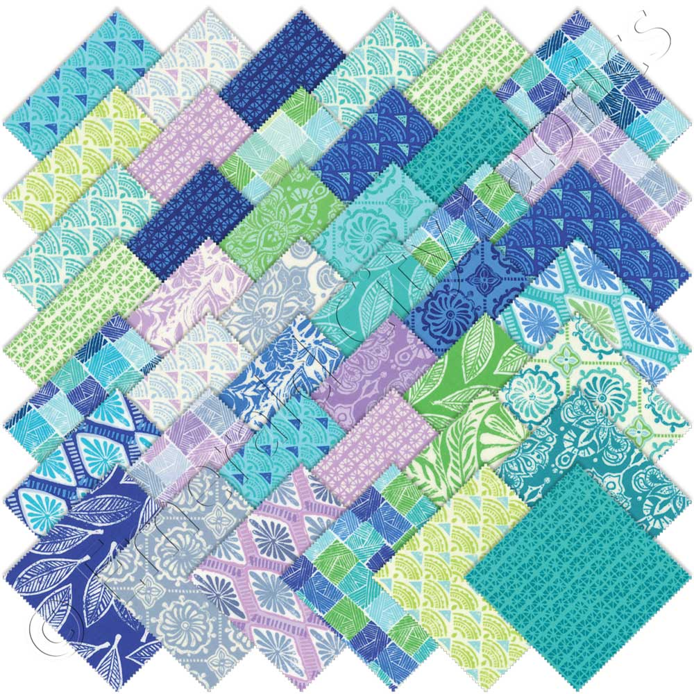 Moda kate spain horizon charm pack emerald city fabrics for Quilting material