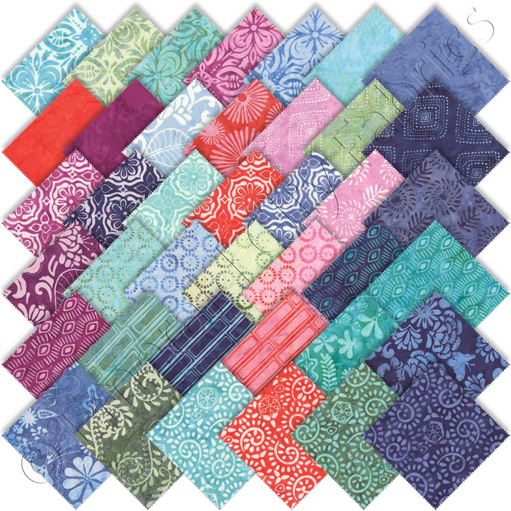 5 inch Patchwork Squares Floral Charm Pack Moda Aria