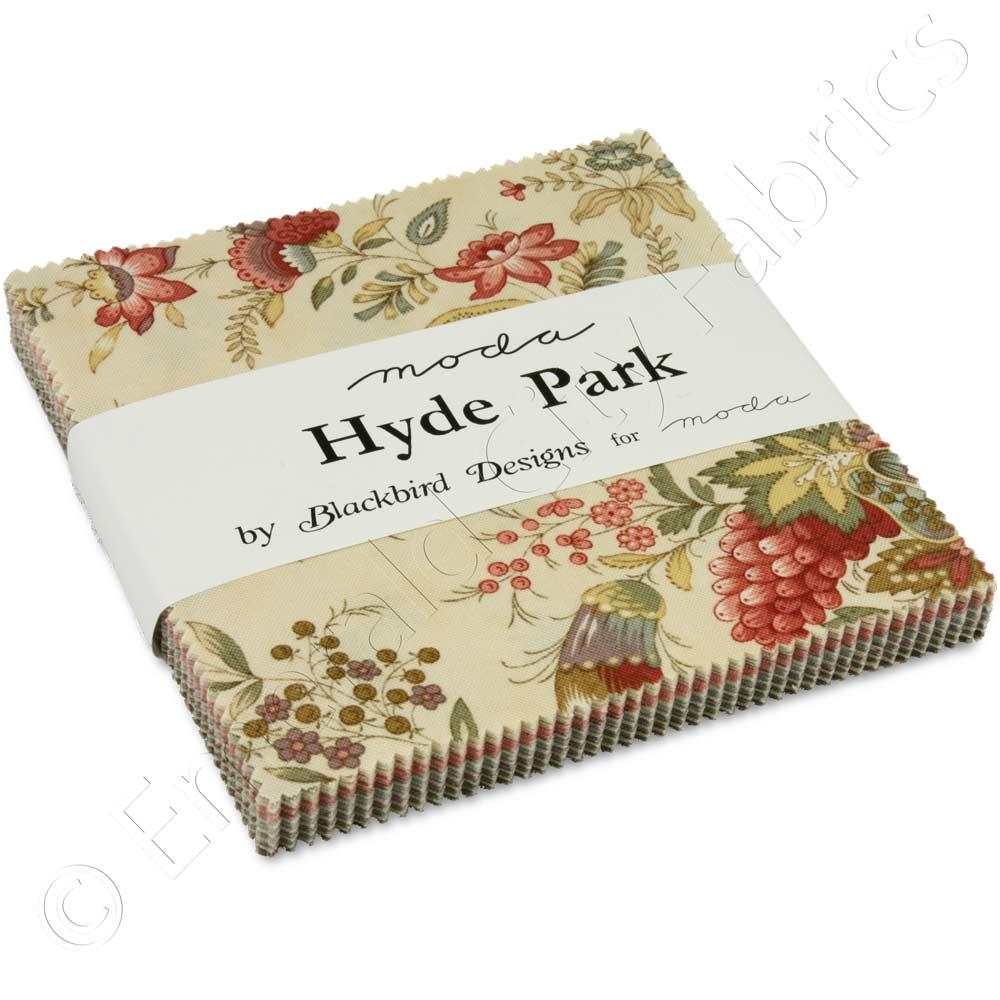 Hyde Park Mini Charm Pack By Blackbird Designs; 42-2.5 Precut Fabric Quilt Squares