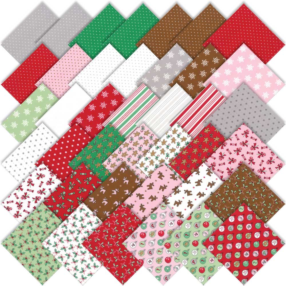 Moda Christmas Fabric 2019 Moda Sugar Plum Christmas Charm Pack by Bunny Hill Designs 2910PP