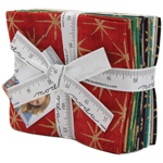 Moda Grunge Seeing Stars Metallic Fat Quarter Bundle by Basic Grey