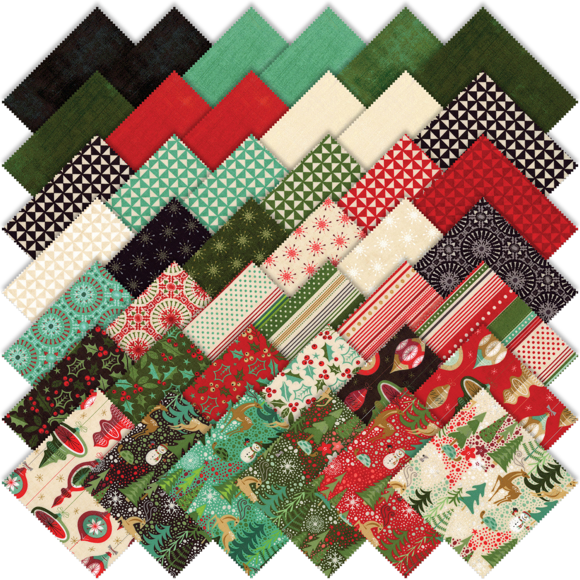 Moda Berry Merry Charm Pack By Basic Grey 30470pp