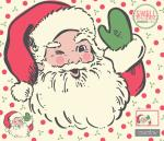 Moda Swell Christmas Santa Digital Fabric Panel by Urban Chiks