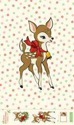 Moda Deer Christmas Fabric Panel