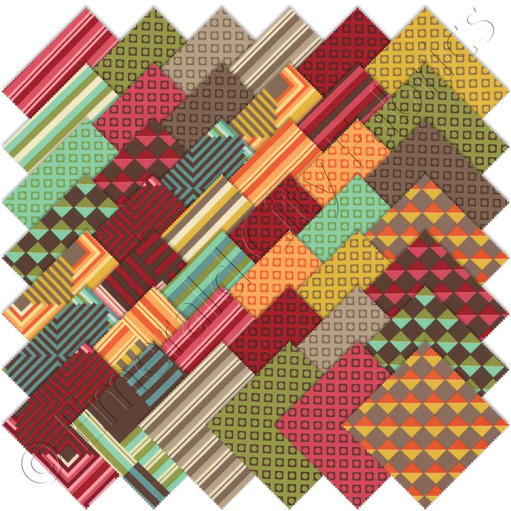 Moda contempo charm pack emerald city fabrics for Quilting material