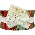 Moda Holly Night Gold Metallic Jelly Roll by Sentimental Studios