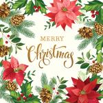 Moda Gradients Holiday Merry Christmas Poinsettia Fabric Panel