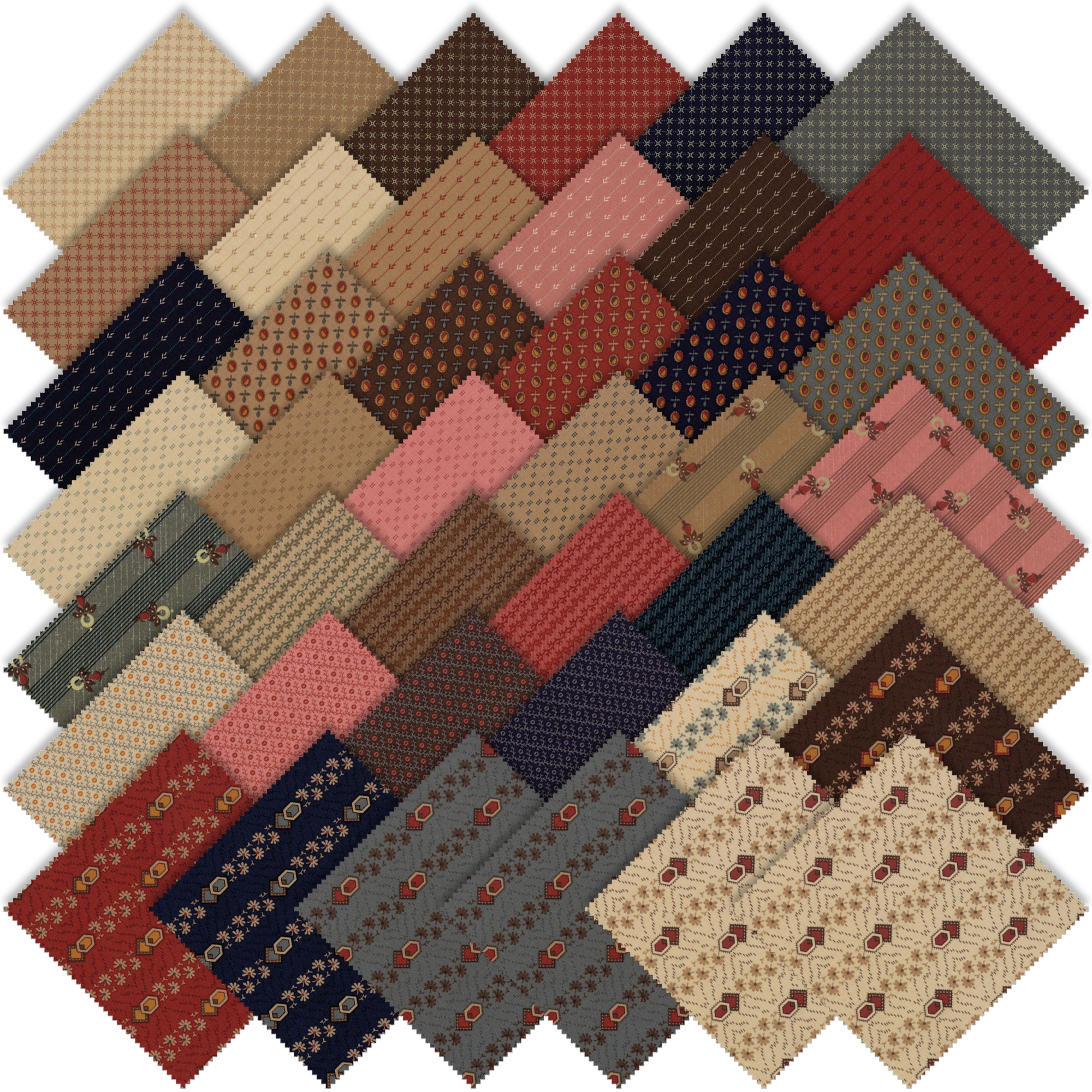 Moda Timeless Charm Pack by Jo Morton 38020PP | Emerald ...