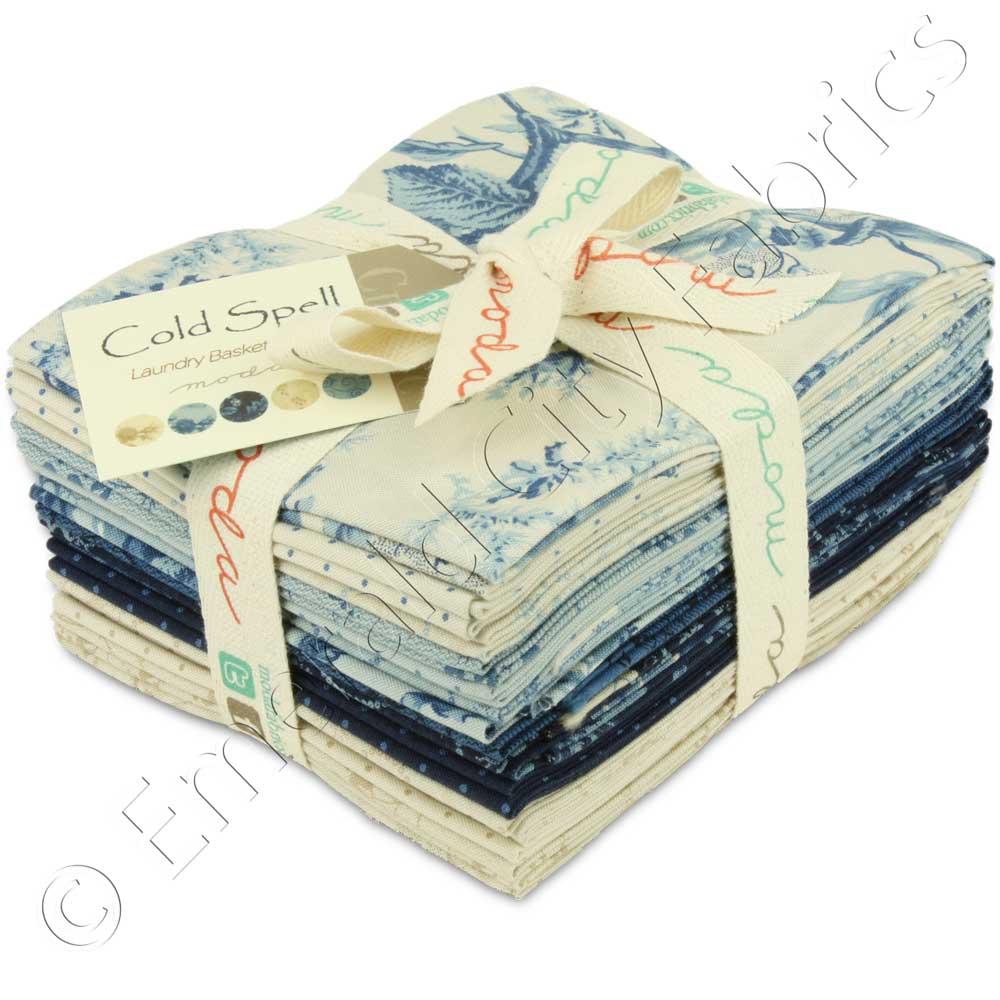 Moda Cold Spell Prints Fat Quarter Bundle Fabric Quilting