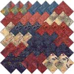 Moda Sweet Blend Batiks Charm Pack by Laundry Basket Quilts