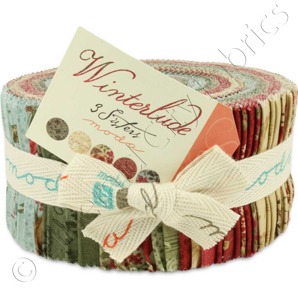 Moda 3 Sisters Winterlude Jelly Roll Emerald City Fabrics
