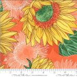 Moda Solana Sunflowers Clementine Fabric by Robin Pickens