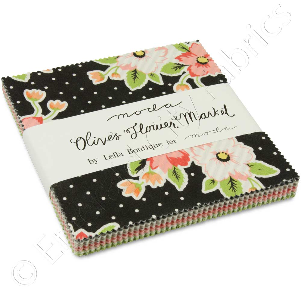 Moda Olive S Flower Market Charm Pack By Lella Boutique