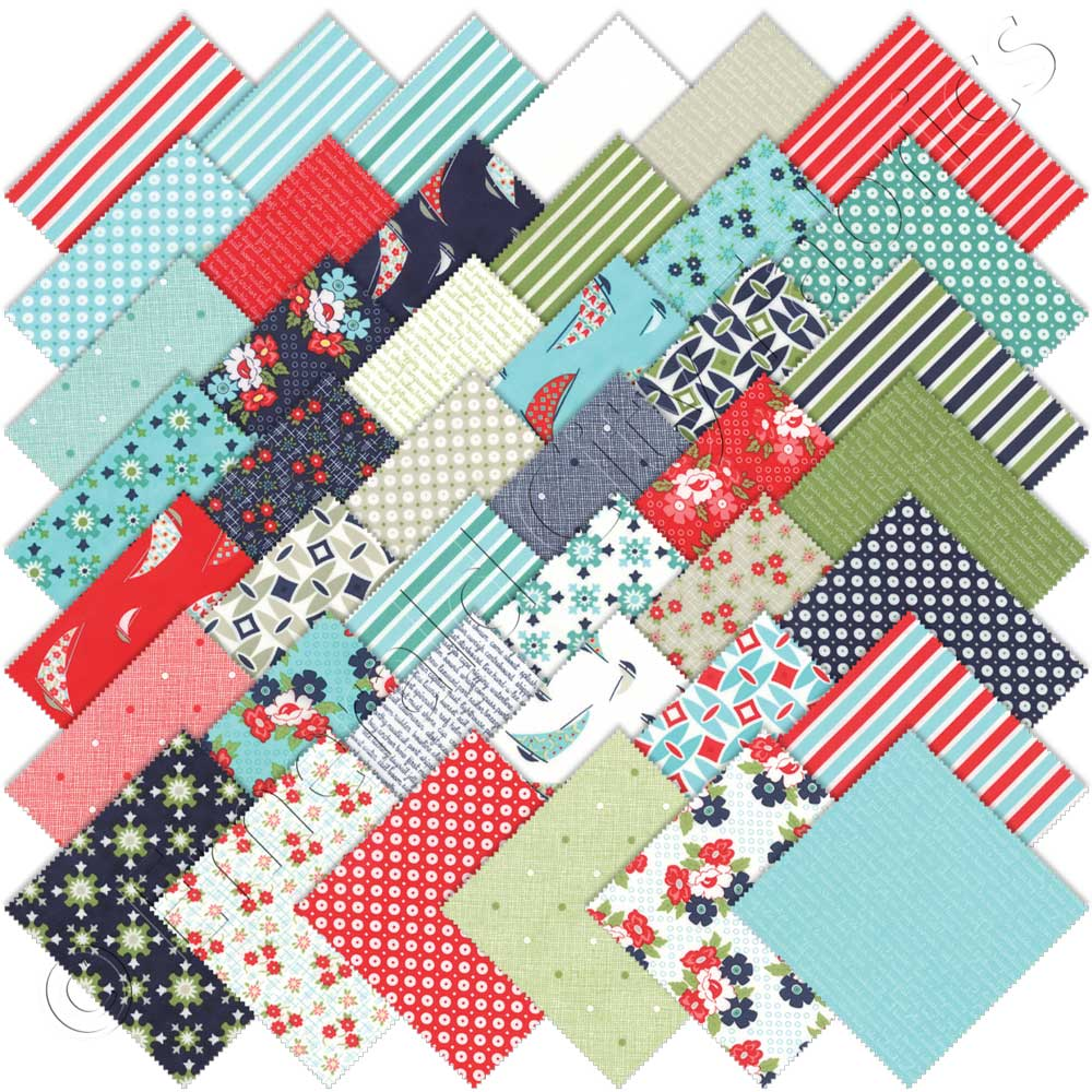 Moda daysail charm pack emerald city fabrics for Quilting material