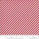 Moda Shine On Stripe Red Fabric by Bonnie & Camille