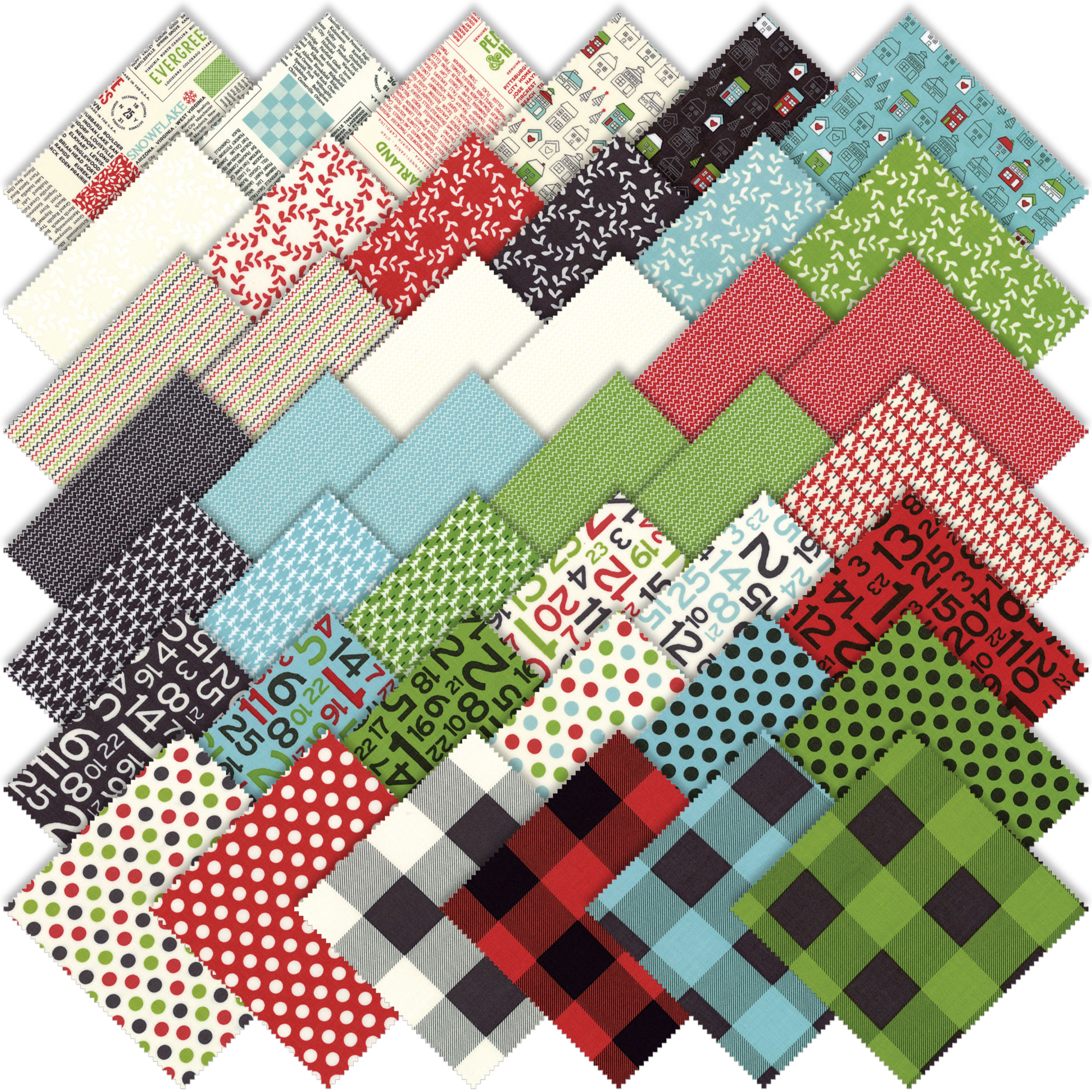 Moda Christmas Fabric 2019 Moda Hometown Christmas Edition Layer Cake by Sweetwater 5660LC