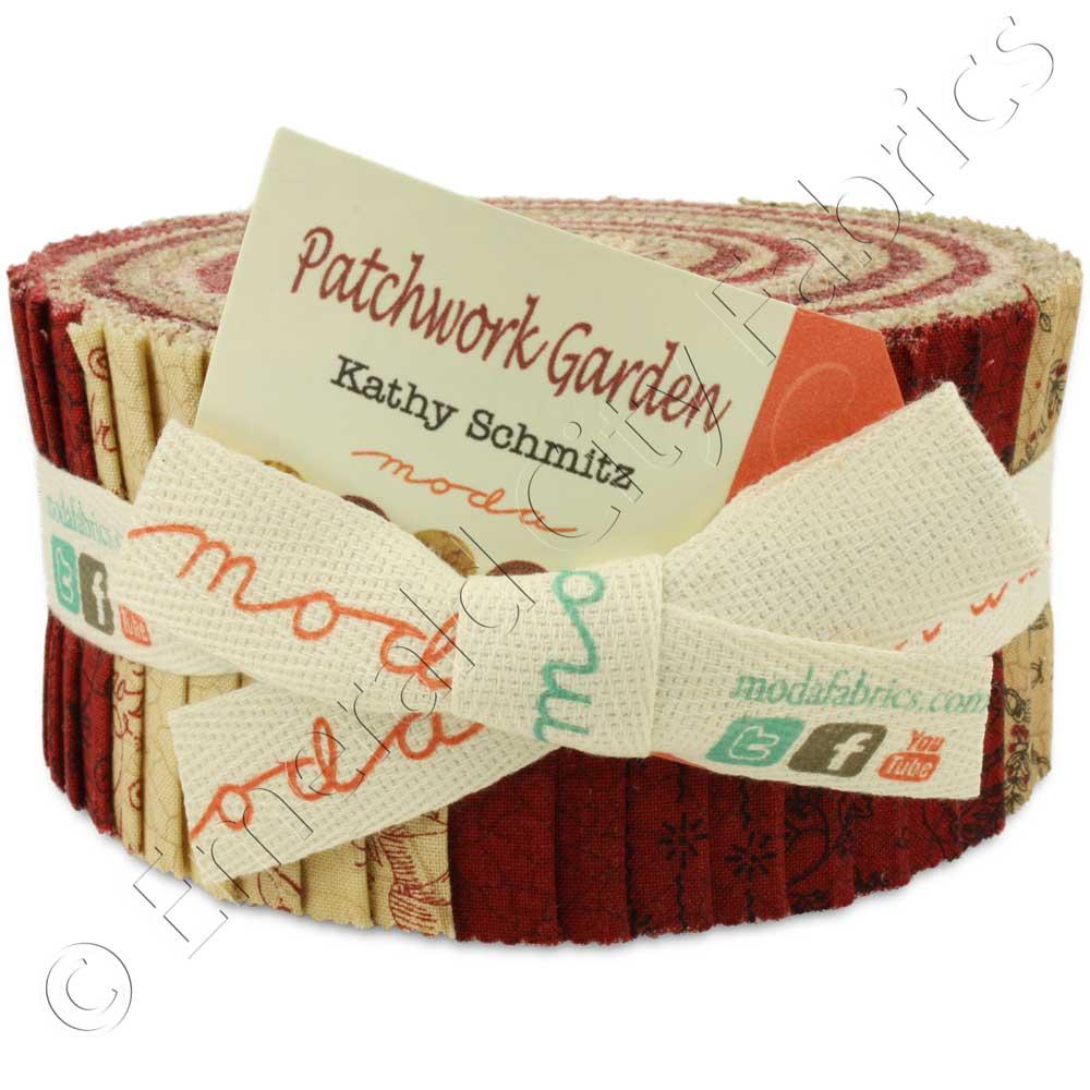 Moda Patchwork Garden Jelly Roll Emerald City Fabrics