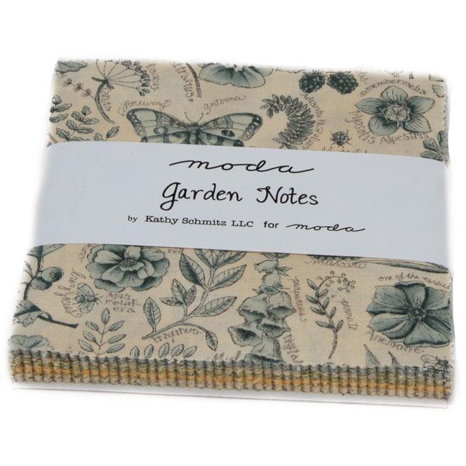 Moda Garden Notes Charm Pack By Kathy Schmitz 6090pp