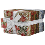 Moda Morris Holiday Metallic Fat Quarter Bundle by V & A Museum