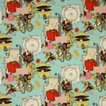 Alexander Henry Sew Retro Turquoise Blue Fabric