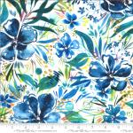 Moda Moody Bloom Effloresce Light Blue Fabric by Create Joy Project