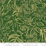 Moda Moody Bloom Leaf It To Me Jungle Metallic Fabric by Create Joy Project