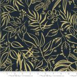 Moda Moody Bloom Leaf It To Me Midnight Metallic Fabric by Create Joy Project