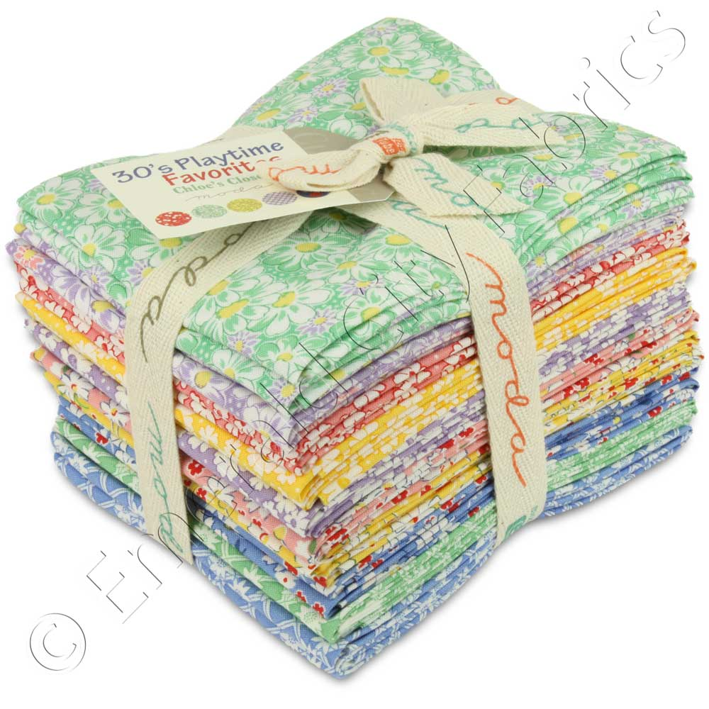Moda fat quarter bundle 30s playtime favorites quilting for Quilting material