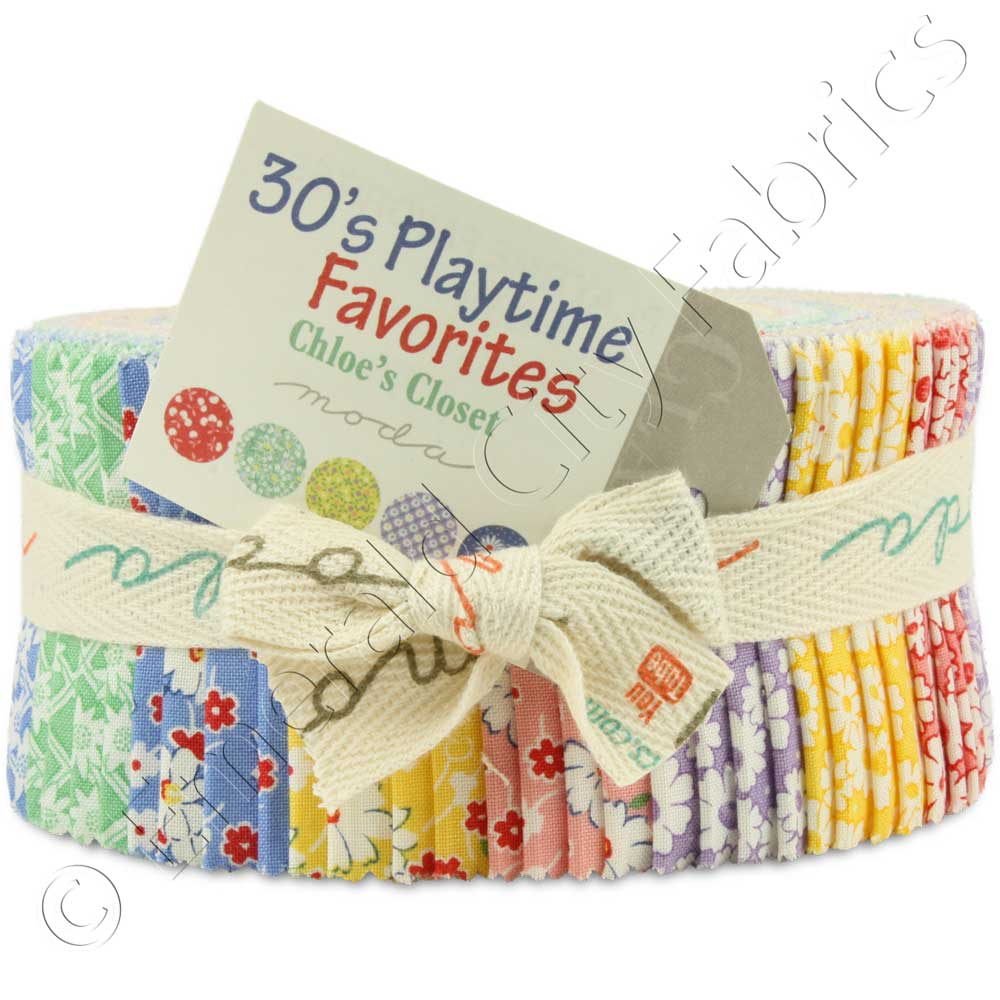 Moda 30's Playtime Favorites Jelly Roll | Emerald City Fabrics : jelly roll fabrics for quilting - Adamdwight.com