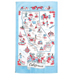 Moda Home California State Cotton-Linen Tea Towel