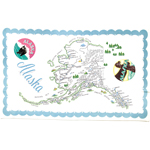 Moda Home Alaska State Cotton-Linen Tea Towel