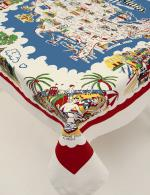 Moda Home American Wonderland USA Map Cotton Tablecloth
